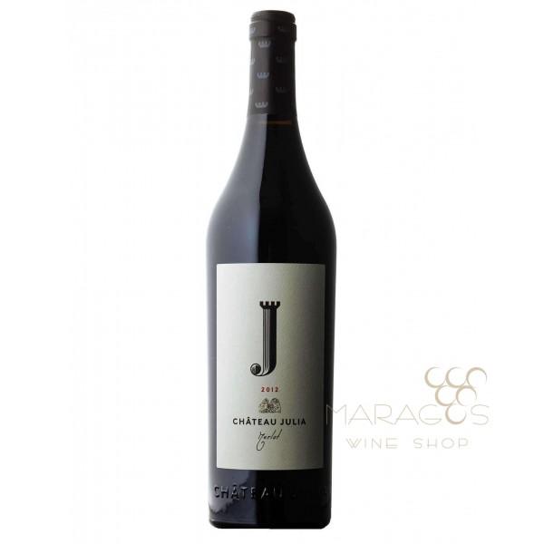 Chateau Julia Merlot Κτήμα Κώστα Λαζαρίδη 2015 0,75L RED WINES maragos-wine.gr