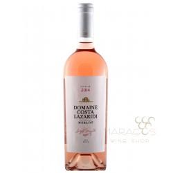 Merlot Ροζέ 2018 Κτήμα Κώστα Λαζαρίδη 0.75L ΡΟΖΕ ΚΡΑΣΙΑ maragos-wine.gr