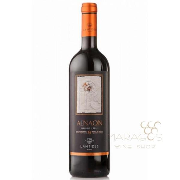 Κτήμα Λαντίδη Aenaon Melot 2014 0,75L RED WINES maragos-wine.gr