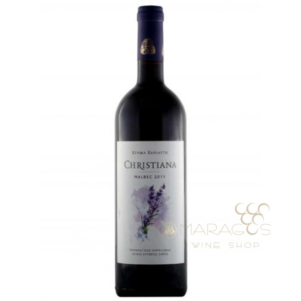 Κτήμα Χαρλαύτη Christiana Malbec 2016 0,75L RED WINES maragos-wine.gr