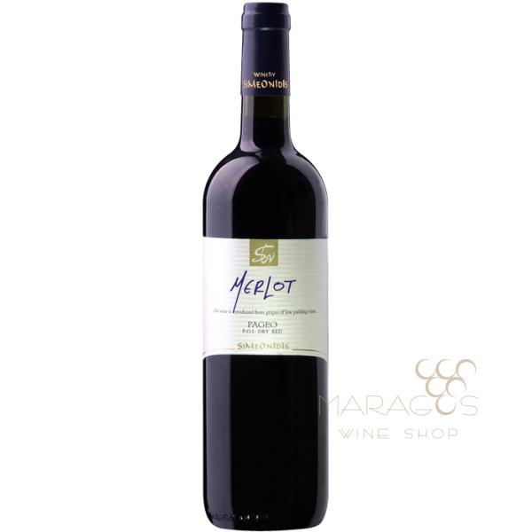 Συμεωνίδη Merlot 2013 0,75L RED WINES maragos-wine.gr
