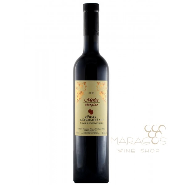 Κτήμα Χατζημιχάλη Merlot Alargino 2011 0,75 L RED WINES maragos-wine.gr
